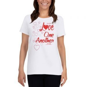 "Women's Short Sleeve T-Shirt – ""Love One Another"""
