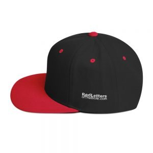 Snapback Hat – Red Letters Logo